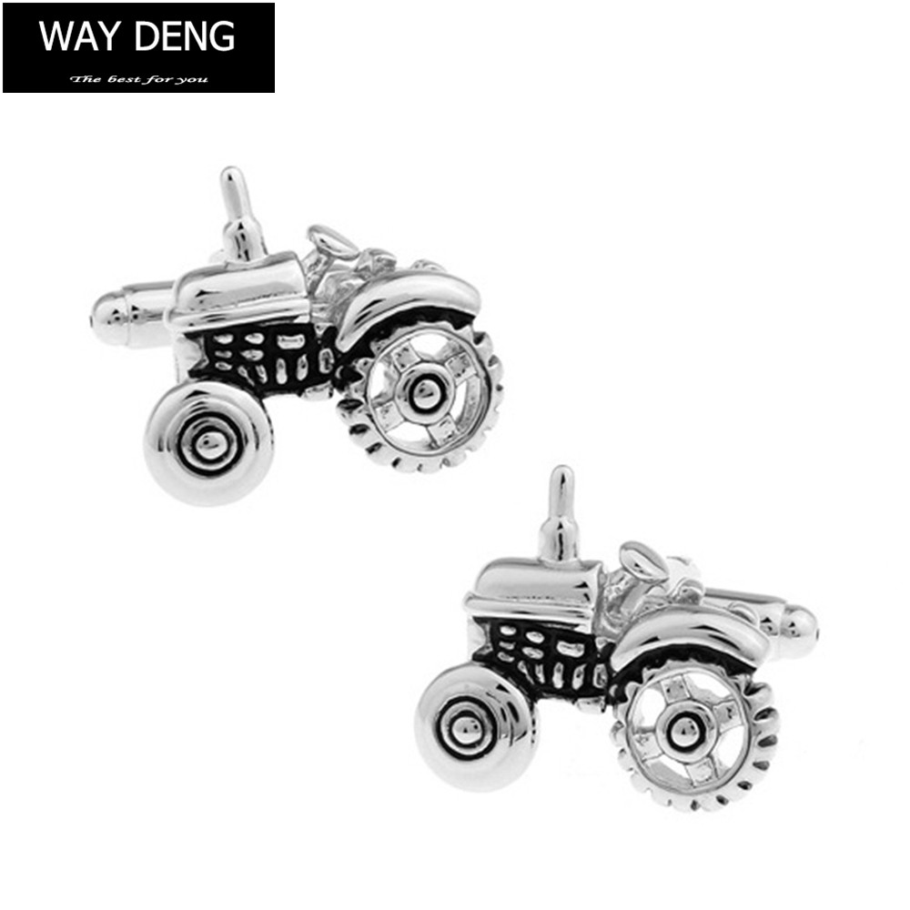 Kemstone Tractor Cufflinks Silver Plated Men Jewelry
