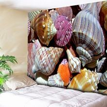 3D Conch Print Mandala Tapestry Beach Wall Hanging Indian Wall Tapestries Tapestry Wall Art Starfish Decorative Tapestry Purple все цены