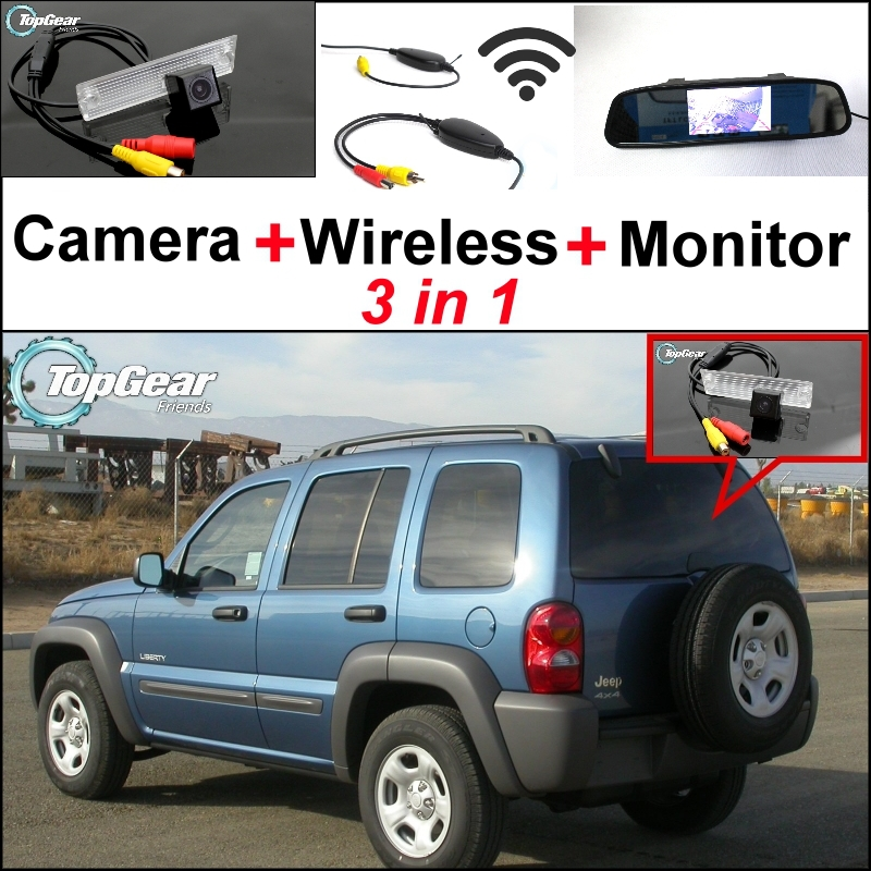 3 in1 Special Rear View Camera + Wireless Receiver + Mirror Monitor EASY DIY BACKUP Parking System For Jeep Liberty 2002~20073 in1 Special Rear View Camera + Wireless Receiver + Mirror Monitor EASY DIY BACKUP Parking System For Jeep Liberty 2002~2007