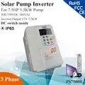 Inversor de bomba solar de kW 17A 3 fases 380VAC MPPT para bomba de agua de HP 5.5KW interruptor de CC dentro de la bomba solar PV controlador