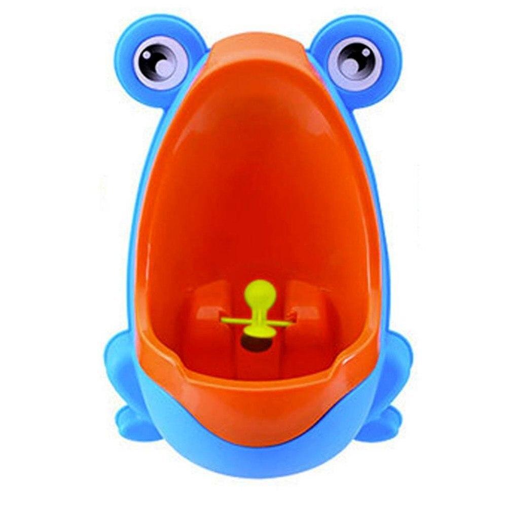 Симпатичные Лягушка приучения к горшку Писсуар для Обувь для мальчиков синий Кофе