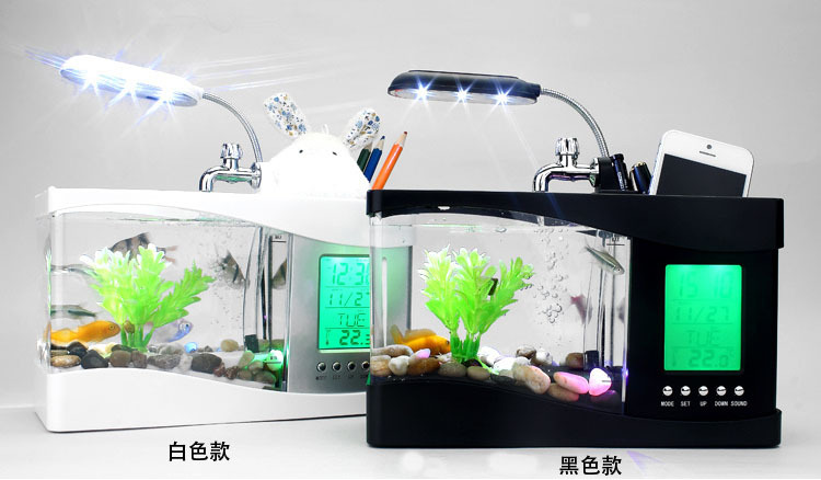 Supply Small Fish Tank Mini Aquariums Mini Aquarium USB