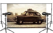Retro Background Vintage Car Parked on the Roadside Studio Photography Scene 150x220cm