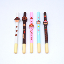 5 Pcs/Set gel pen kawaii 0.5mm cute plastic color fruit office lapices supplies papelaria criativa stationery kalem black lot 1 pcs set color gel pen kawaii watercolor glitter cute tinta plastic festoon office lapices supplies stationery kalem material