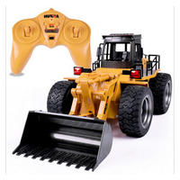 2.4G 6 CH Alaşım RC Buldozer Kamyon Araba Işık uzaktan kumandalı kamyon Model Buldozer RC kamyon oyuncaklar Araba Çocuklar için Hediyeler|RC Kamyonlar|Oyuncaklar ve Hobi Ürünleri -