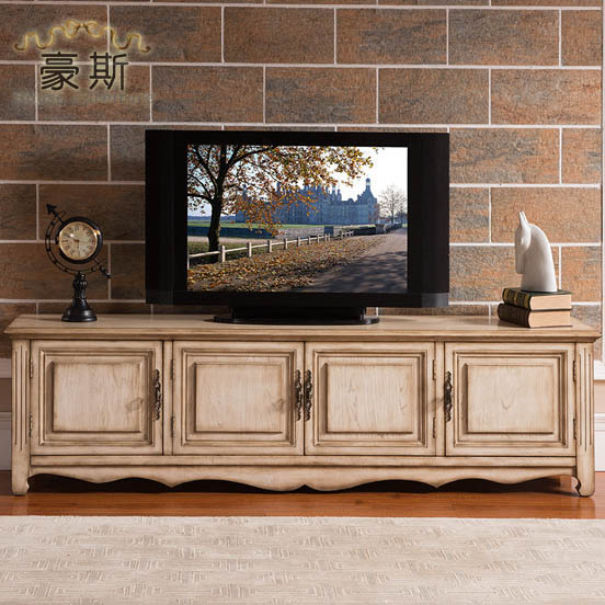 Europe And America To Do The Old Antique Style Living Room Large Capacity Storage TV Cabinet All Solid Wood Residential Furnitur In Children Cabinets From