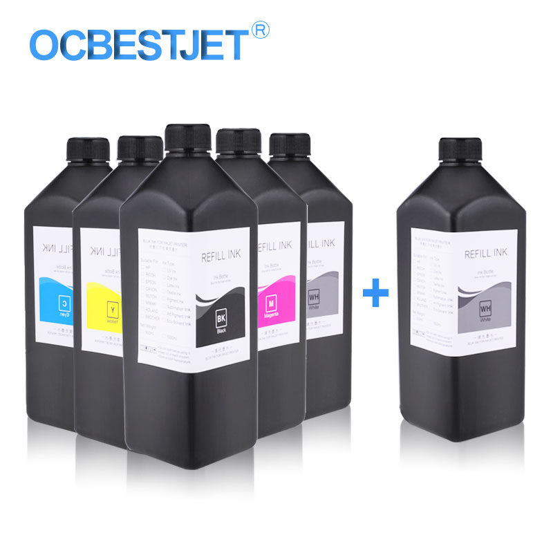 Office Electronics 6x1000ml Led Uv Ink For Epson P50 T50 T60 L800 L805 R290 1390 1410 1500w R1900 R2000 R3000 Printer Ink Universal Uv Printer Ink Neither Too Hard Nor Too Soft Printer Supplies