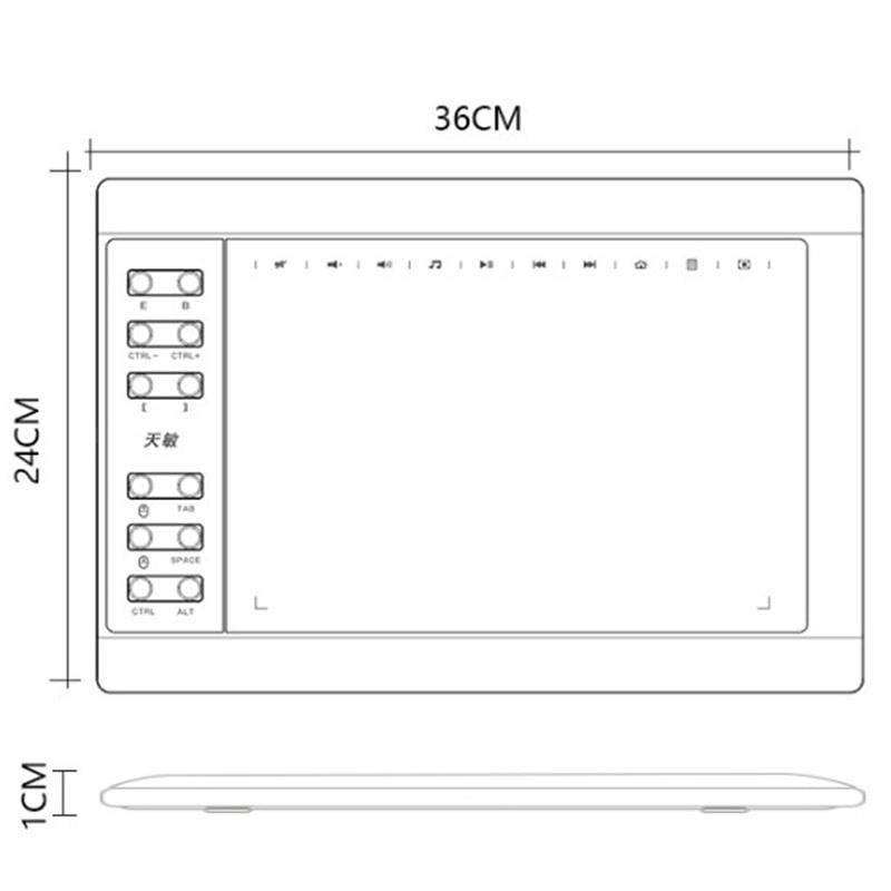 G10 digital desenho tablet mão-pintado placa de