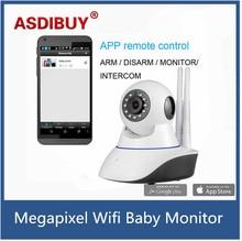 ASDIBUY Wireless WiFi IR Cut IP Camera HD 1MP CMOS Security CCTV IP Camera Alarm PT For wifi and GSM sms alarm system
