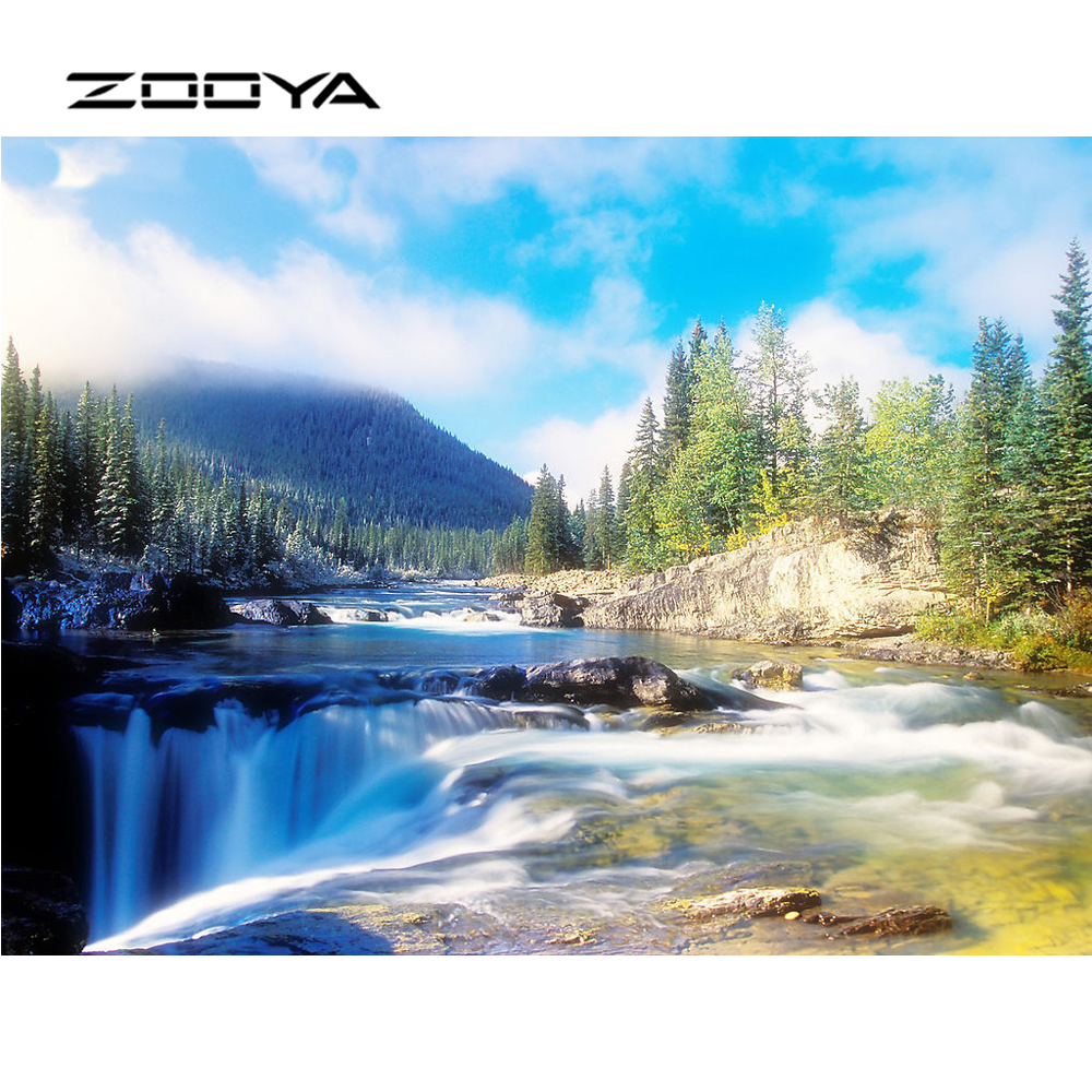 ZOOYA Diamond embroidery Stickers wedding decoration diamond painting cross-stitch Round Full Diamond Natural scenery BB1481