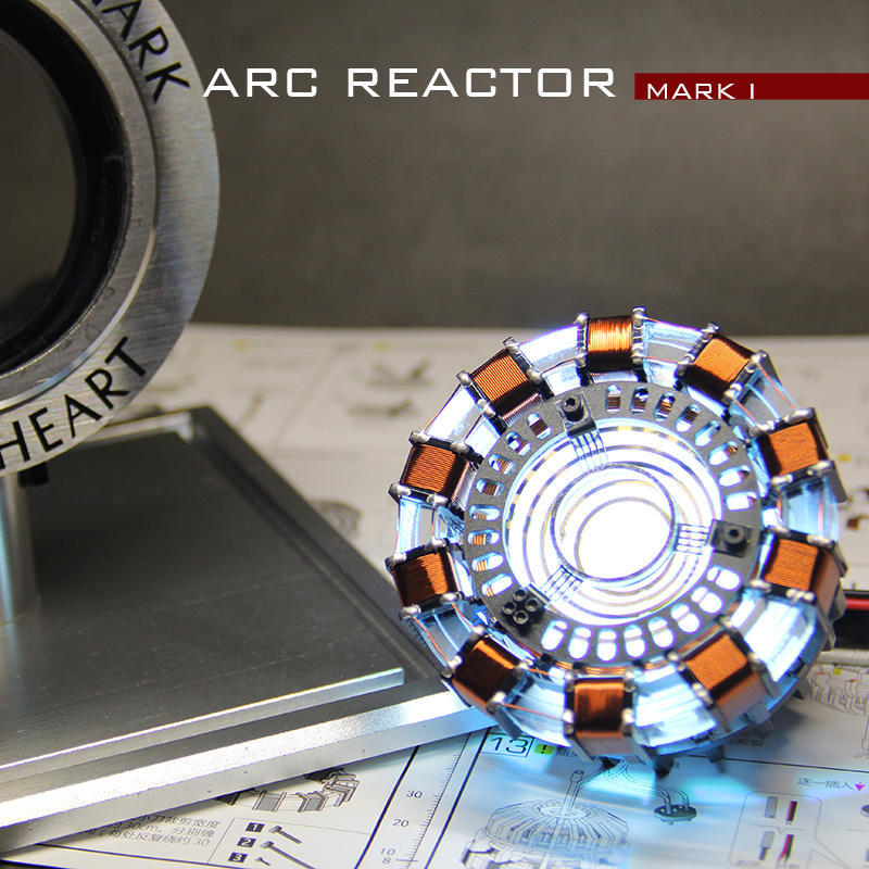 Avengers 1:1 Scale Iron Man Arc Reactor Core Tony Stark Heart With Led Light Gifts Diy Need To Assemble Cosplay Prop Reactor