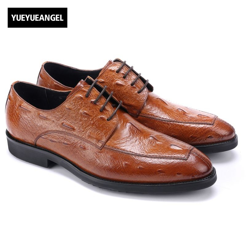 Business Dress Shoes Fashion Hot Sale High Quality Brand Genuine Leather Men Lace Up British Formal Shoes Male Footwear 42 43 44 hot sale mens genuine leather cow lace up male formal shoes dress shoes pointed toe footwear multi color plus size 37 44 yellow