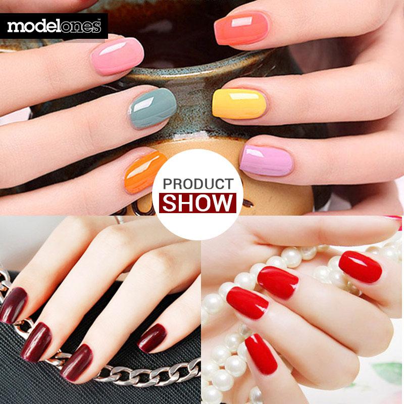 Modelones Nail Gel Soak-off Gel polaco Top y Base Coat gel uñas kit - Arte de uñas - foto 6