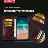 Flip Case for iPhoneXS Max Business Vintage Luxury Vertical PU Leather Wallet Phone Cases For iphone6 7 8/ 8 Plus Capa