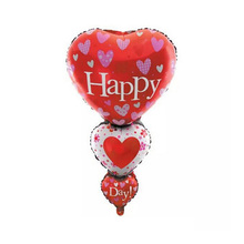 Giant new string heart happy day foil balloon inflatable helium balloon for wedding decoration цена