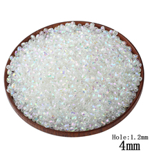 Wholesale 100Pcs Transparent Acrylic Oval Ball Spacer Beads Charms Findings 4MM Size For Jewelry Making,For Kids