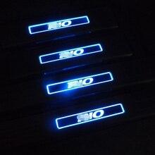Подходит русский Rio для Kia Rio 2011 2014 порога с из светодиодов автотентами полосы приветствуется педали автоаксессуары 4 шт. стайлинга автомобилей