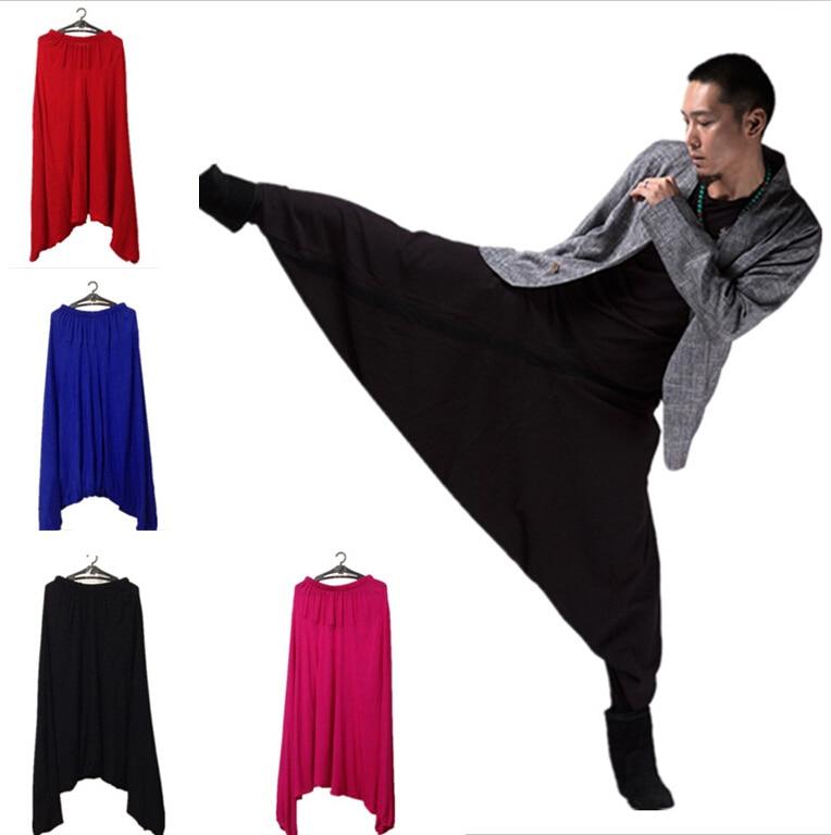 New FASHION Men's Crotch Pants, Male Cotton Pants Bloomers, Harem Pants,casual Trousers,PLUS SIZE Pants M-5XL