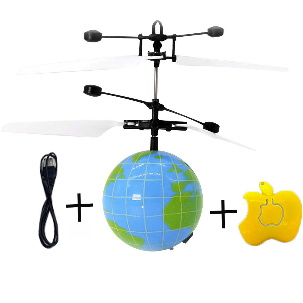 New Cartoon Fashion Remote RC Flying Ball Drone Helicopter Ball Built in Shinning LED Earth font