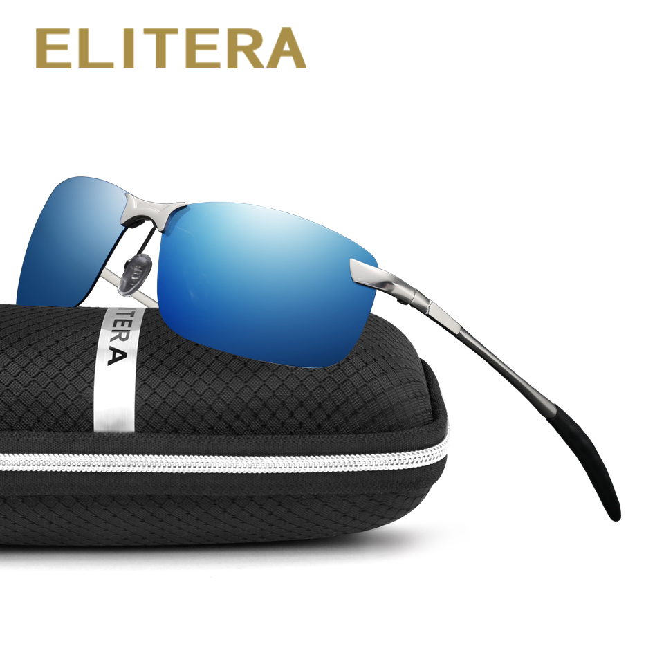 ELITERA 2017 Nouvelle marque Hommes lunettes de Soleil Polarisées Sport Hommes Couleur film Conduite Lunettes de Soleil oculos Lunettes Accessoires En Gros