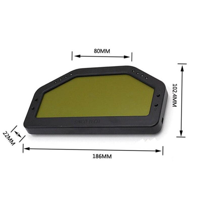 9000rpm Rally Gauge Car Dash Race Display Gauge SENSOR KIT Dashboard LCD Screen Waterproof High Accuracy