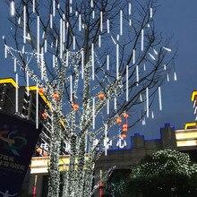 Водонепроницаемый 30 см или 50 см светодиодный Метеоритный дождь Дождь светильник 8 шт. трубы AC110V AC220V Свадьба Рождество ЕС падение дождя светильник s#30