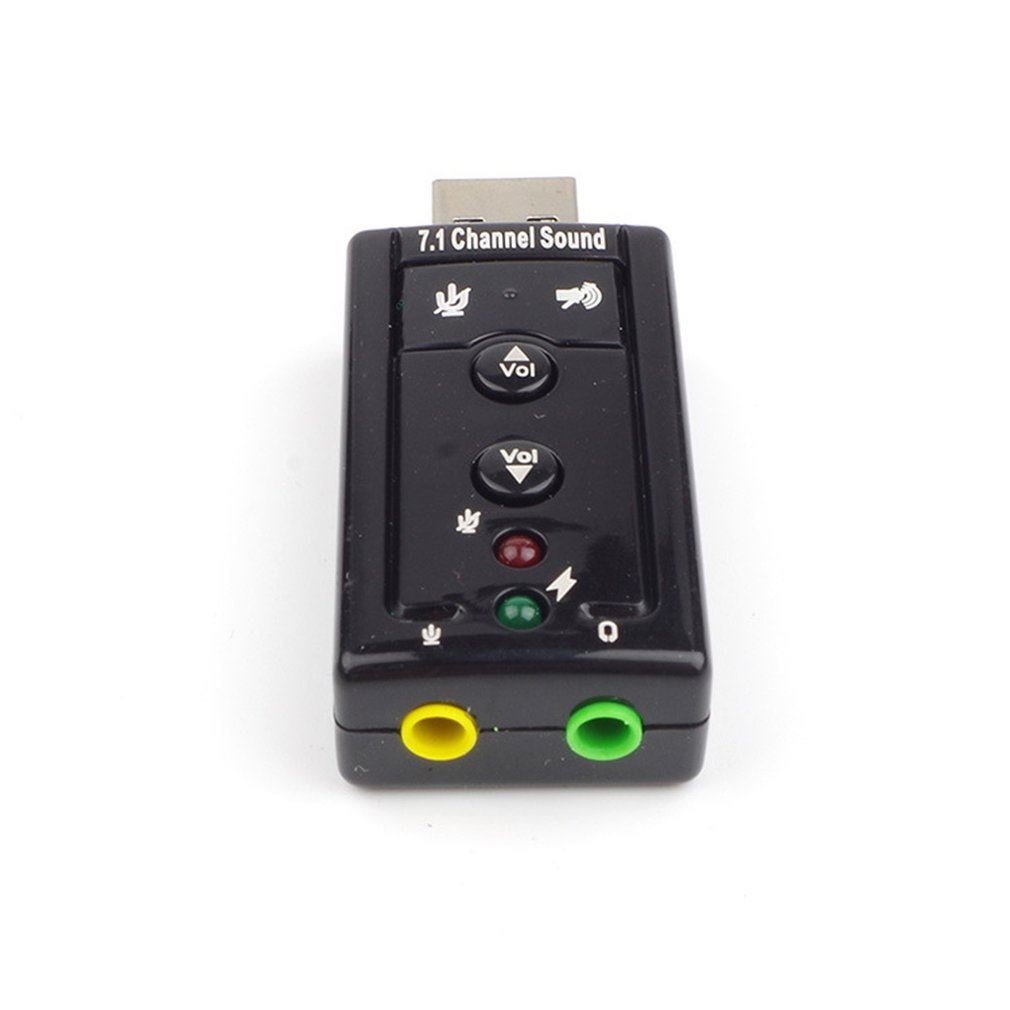 Usb Sound Card 7.1 Channel Usb External Sound Card 3D Surround Sound With Button Control Sound Card