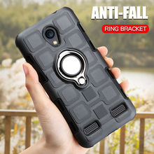 Luxury Ring Case For ZTE Blade A520 A602 L7 Phone BA520 BA602 Armor Cover Silicone TPU Shockproof Holder