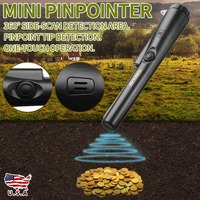 Black Mini Pin pointer Handheld Metal Detector Pin Pointer 360 Degree Detection Find Metal Object Search Gold Digger Hunter