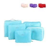 HAOCHU 5 Unids/set 5 Colores Mujeres de Los Hombres Bolsa de Viaje de Lavado de Tela bolsa de maquillaje Bolsa de Armario de Equipaje Impermeable Súper Ligero organizador