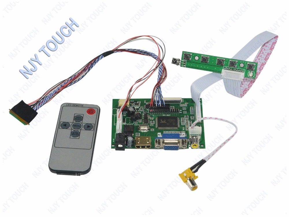 HDMI+VGA+AV IR Controller Driver Board DIY kit for LCD N156BGE-L21 1366X768
