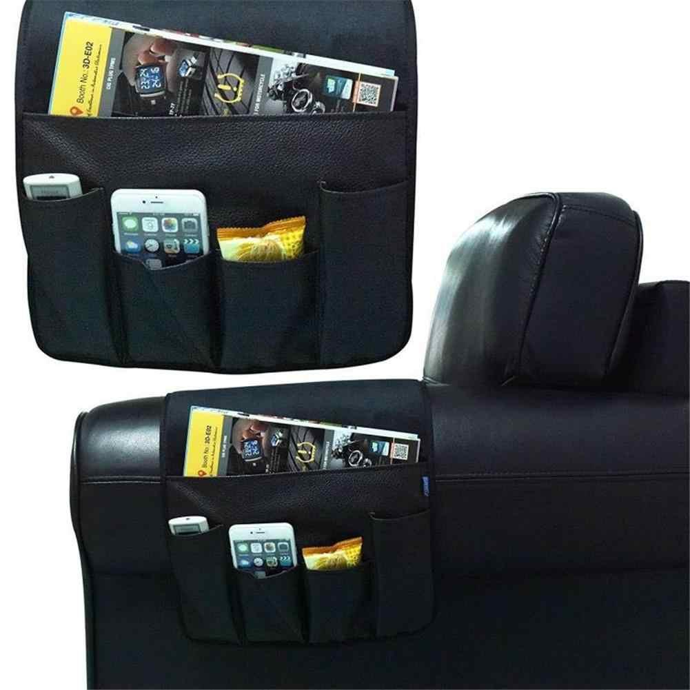 Складная сумка для хранения подлокотников на диване, нескользящая сумка из искусственной кожи, подвесной диван с дистанционным управлением, органайзер для телефона, держатель для хранения
