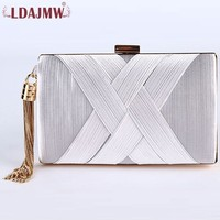 Pure Color Silk Handmade Formal Dinner Ladies Hand Holding Small Square Bag High Temperament Fashion Messenger Bag
