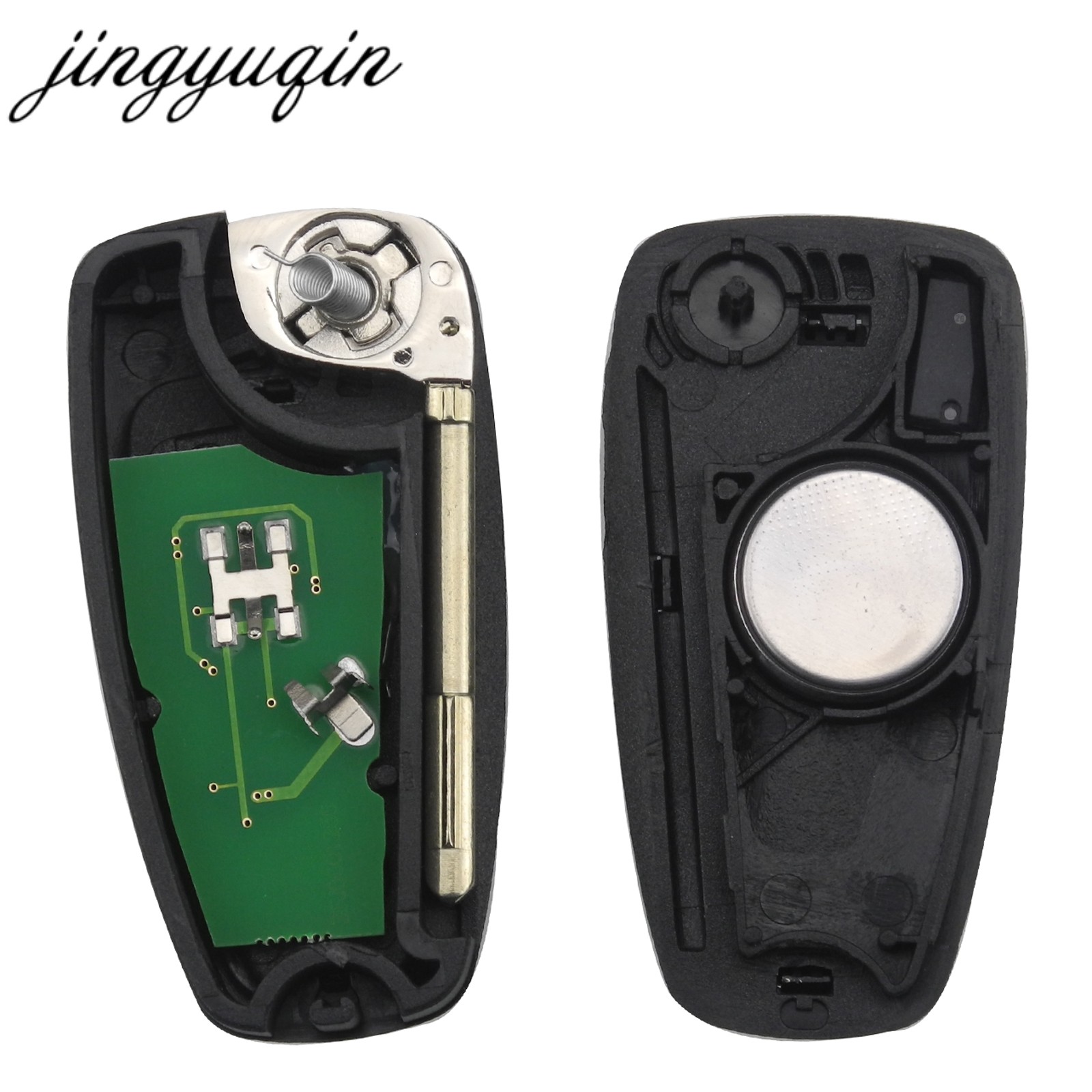 Image 3 - jingyuqin 3 Buttons Flip Remote Key Fob Chip 4D60 ID63 For Ford Focus Mk1 Mondeo Transit Connect 433Mhz-in Car Key from Automobiles & Motorcycles