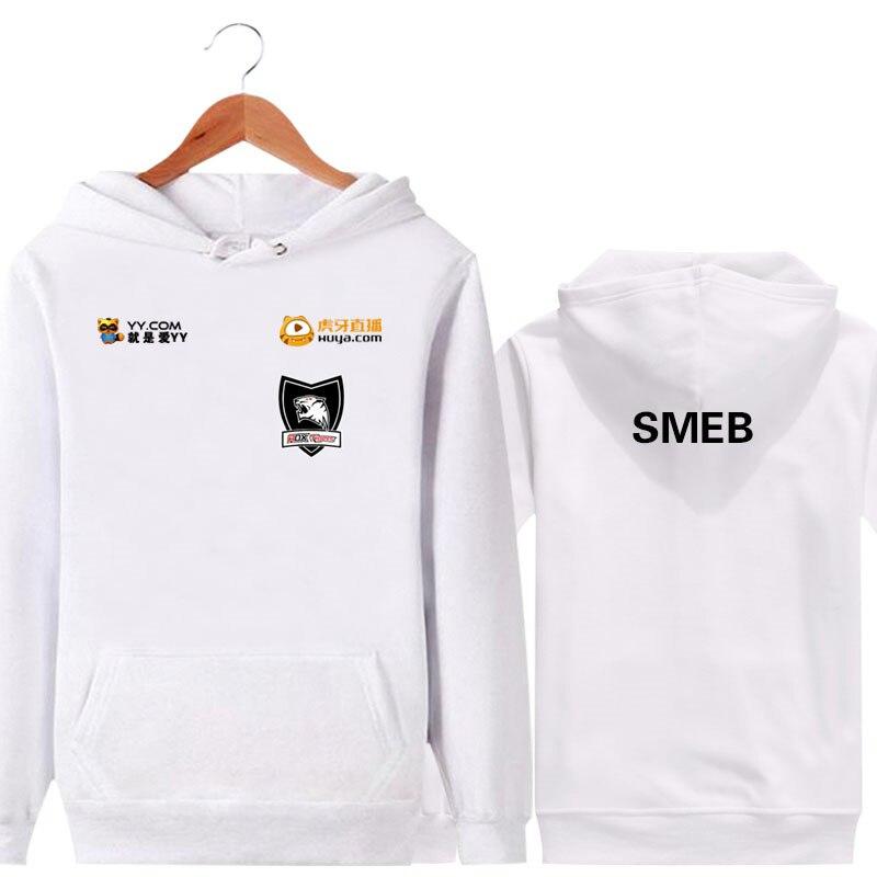 Hot Game LOL S6 ROX Tigers Unisex Hoodies Cosplay Sweatshirt Autumn and winter Hoodie for men