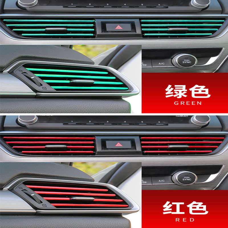 10 pcs Auto Styling Air Vent Trim Chrome Moulding Strip Voor Honda Civic 2006-2011 Accord Fit CRV HRV stad Jazz Subaru Forester