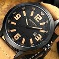 Relogio masculino reloj hombre ochstin top de luxo da marca homens relógio de moda relógio de pulso de quartzo relógio de pulso dos homens de couro à prova d' água