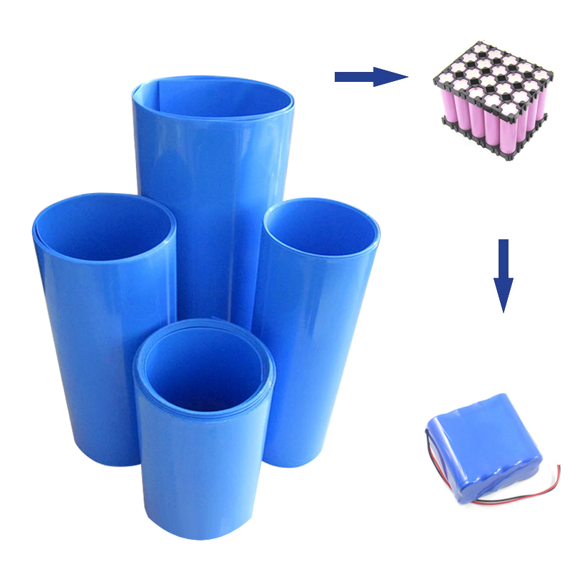 2M Heat Shrinkable Tube PVC Shrink Tubing For Lithium Battery Pack Protection Insulation Casing High Quality Heat Shrink Sleeve