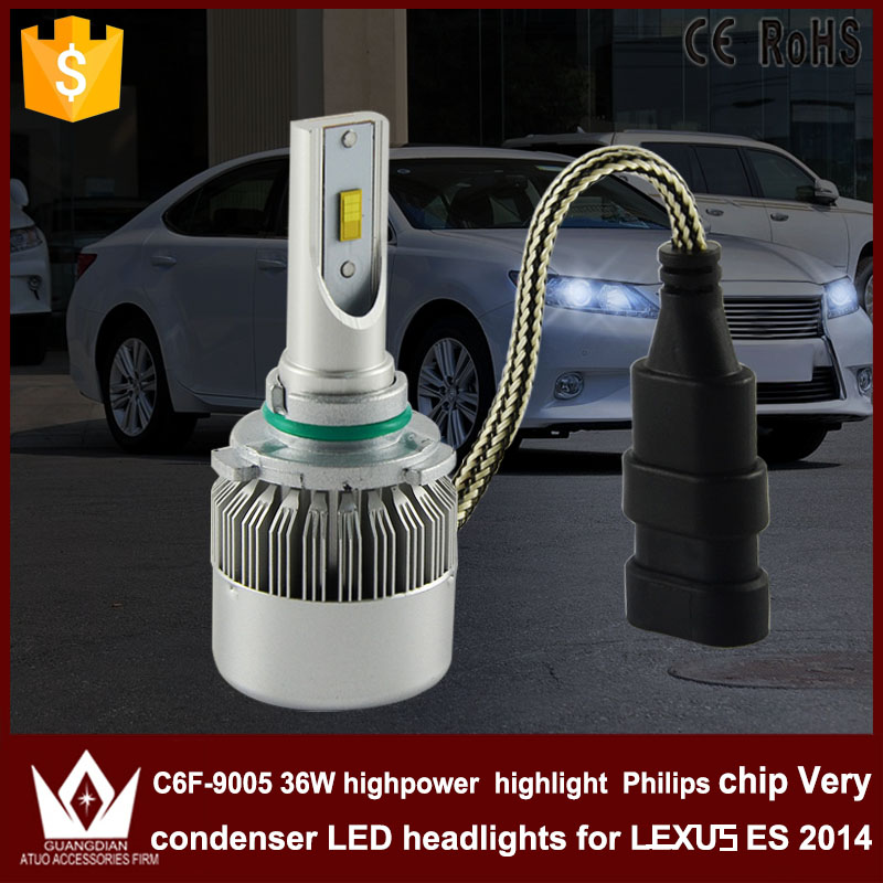 Guang Dian car accessories led light 9005 Headlight Head lamp high power High beam C6F 6000K white  Bulbs for LEXUS ES 2014 ONLY chun guang coconut candy 5 6 ounce