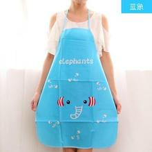 Colorful cartoon printed waterproof apron BBQ kitchen apron