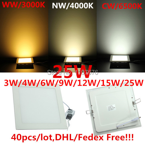 Lowest price High Bright LED Ceiling Light Recessed Square LED