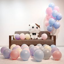 Thicken 10 inch single layer macarons candy color series balloons wedding party decoration balloon chain(China)