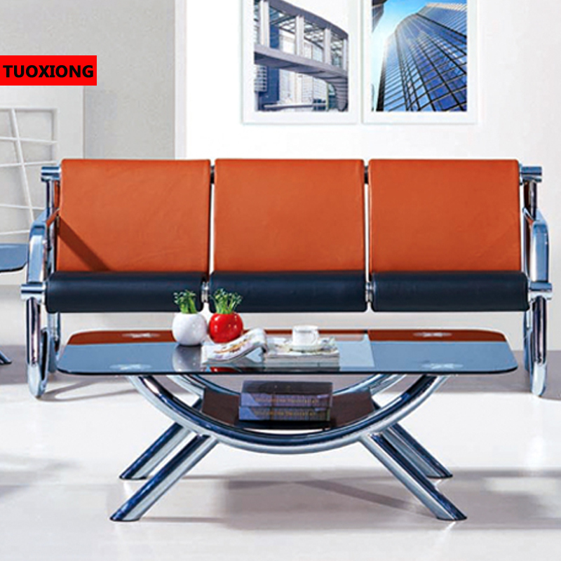 Commercial sofa simplified metal sofa chair Waiting area chairs ...