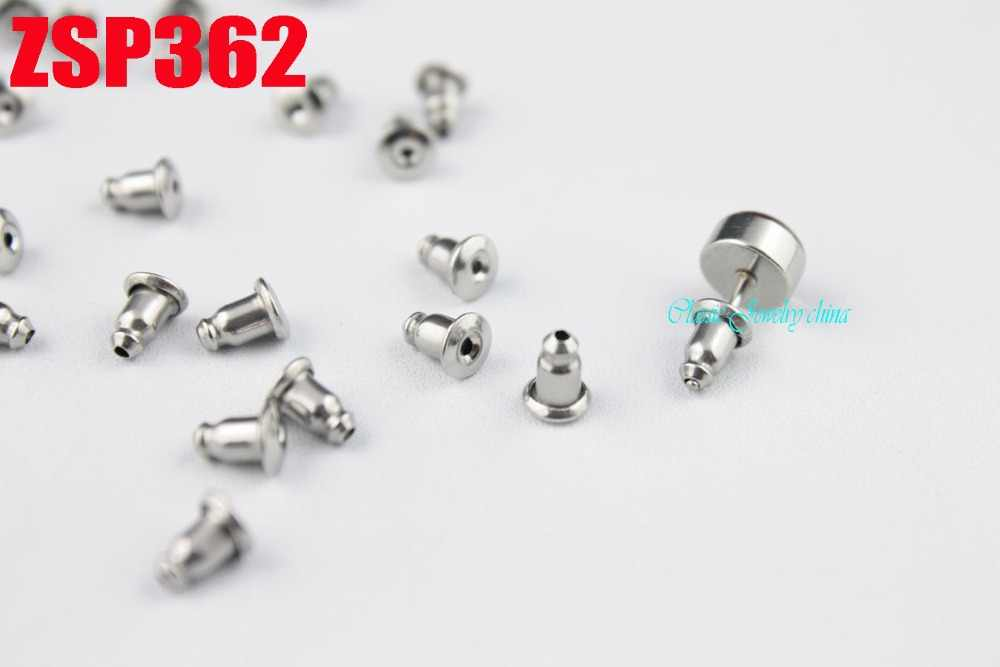 Aço inoxidável Pós Orelha peças de Bala Plug Voltar Brinco Stopper ear stud 100 pcs-10000 pcs ZSP362
