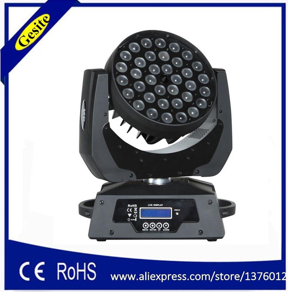 Dmx512 36 kpl 10w 36x10 rgbw 4in1 zoom-led-liikkuva päänvalo tarkentaa valaistusta