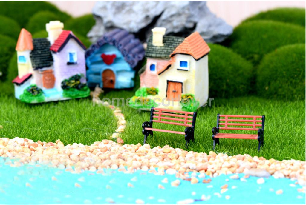 10Pcs Miniature Benches Fairy Garden Terrarium Figurine Decor Bonsai Craft S