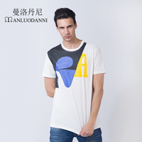 MANLUODANNI Brand T Shirts Letter Printed Shirts Design Cotton Clothing Swag Men T Shirts Camiseta Tee
