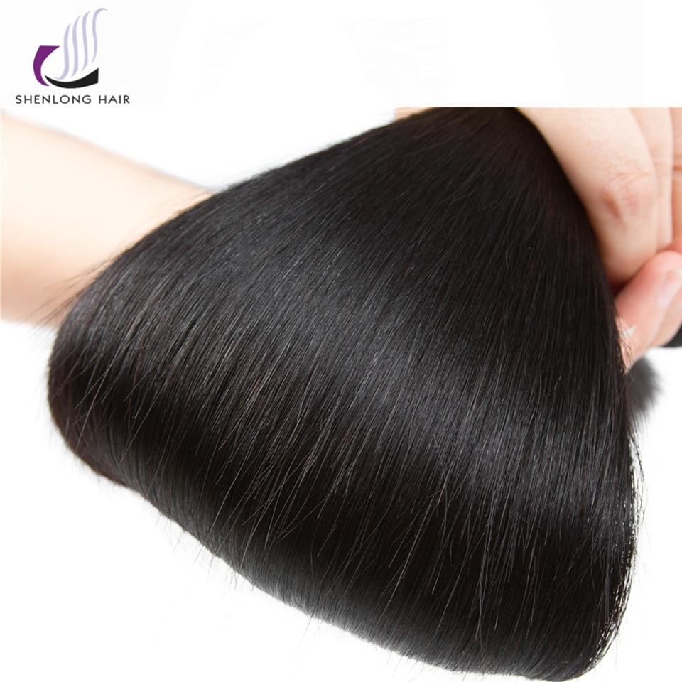 SHENLONG HAIR Mongolian Straight Human Hair Bundles 8-26 tums - Mänskligt hår (svart) - Foto 5