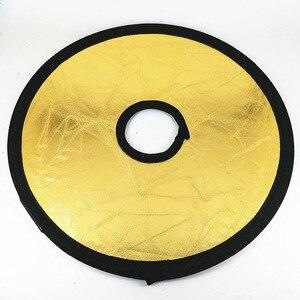 Image 4 - Reflector hueco para fotografía de estudio y cámara fotográfica, luz plegable redonda de 30cm 2 en 1 dorada y plateada