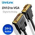 Unnlink Digital Active DVI-D 24 + 1 к VGA кабель адаптер DVI VGA преобразователь FHD1080P @ 60 для ПК HDTV проектор компьютерный графический